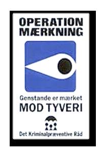Operation Mærkning klistermærke til vinduer og døre
